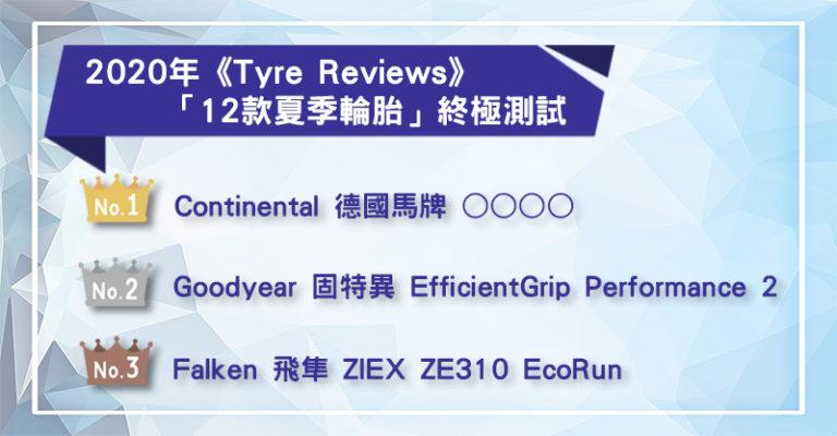 2020年「12款夏季輪胎」終極測試 飛隼ZE310高性能、高CP值!